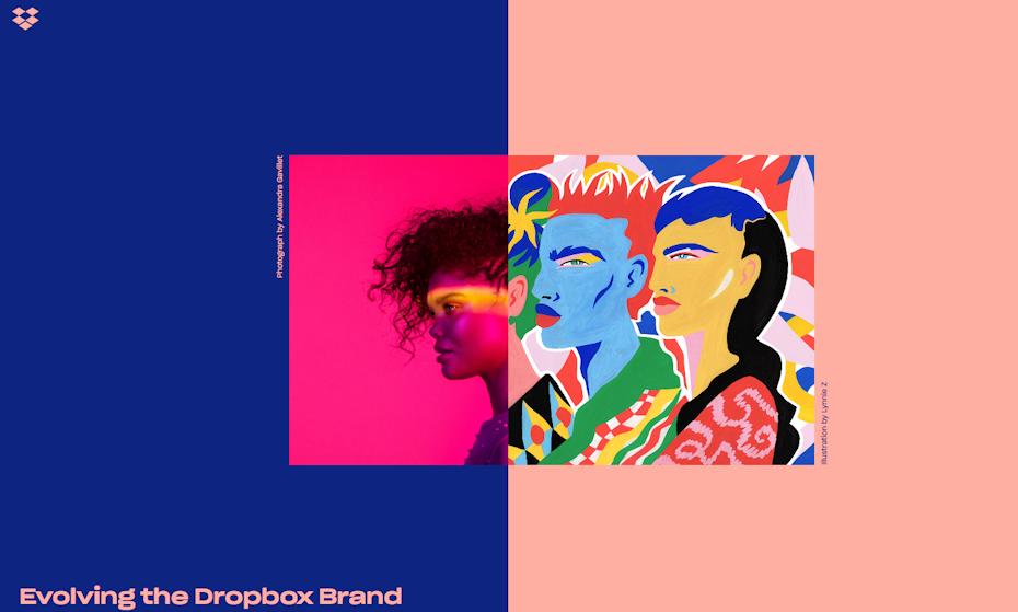 Évoluer la marque Dropbox