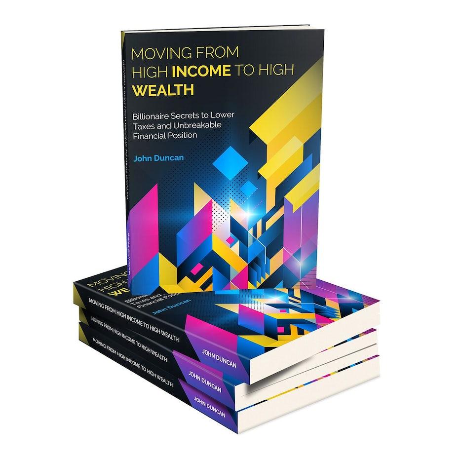 Conception de couverture de livre de planification financière