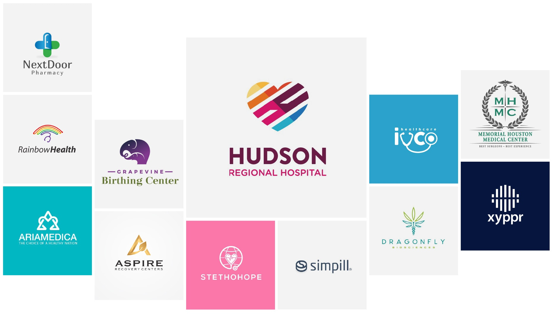 30 hospital logos to put a spring in your step