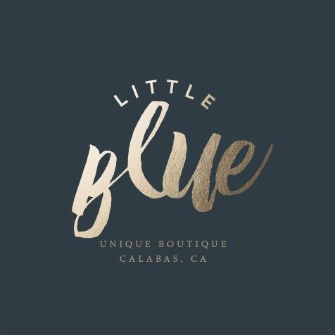 Metallic logo design for Little Blue