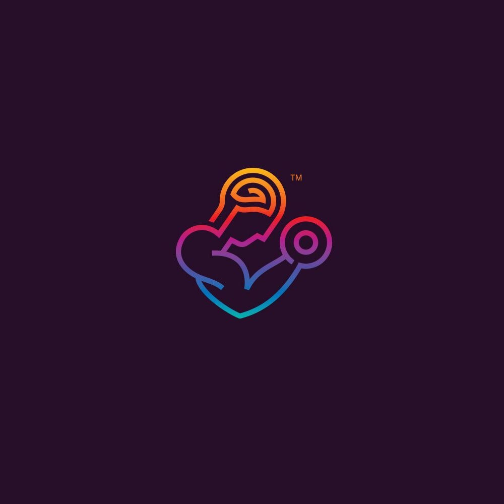Vibrant logo design for MindMuscle.co