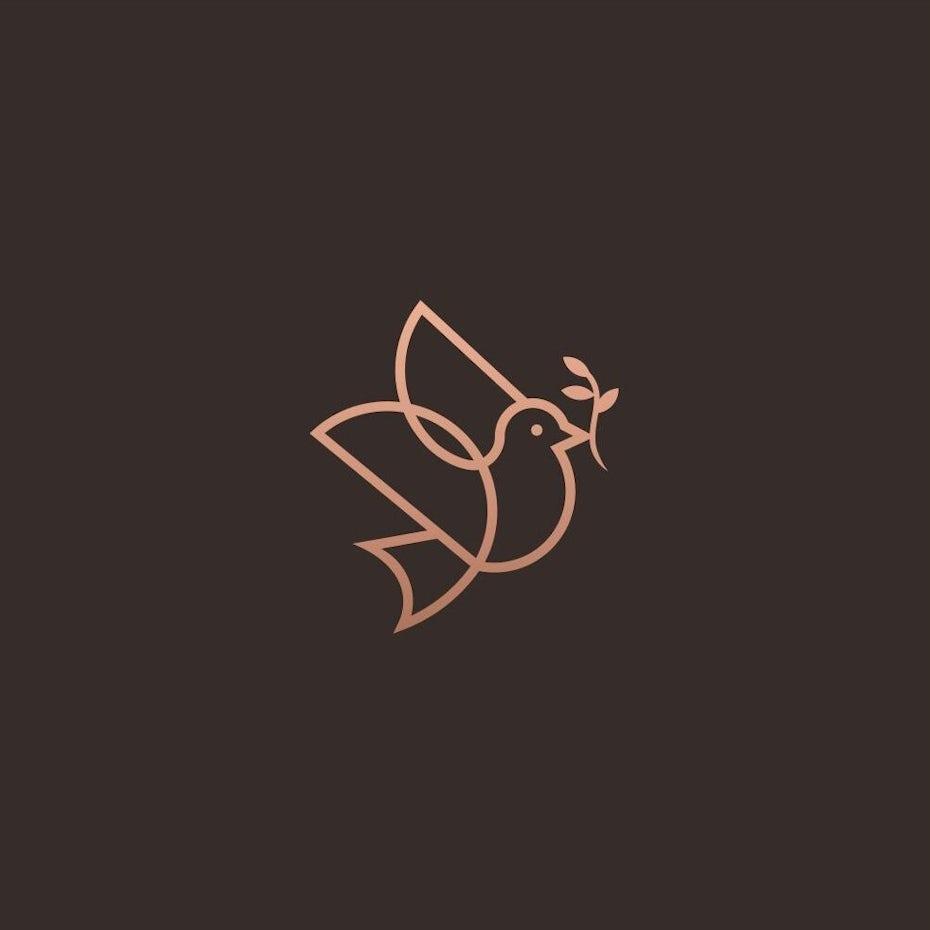 Création de logo d'oiseau Monoline
