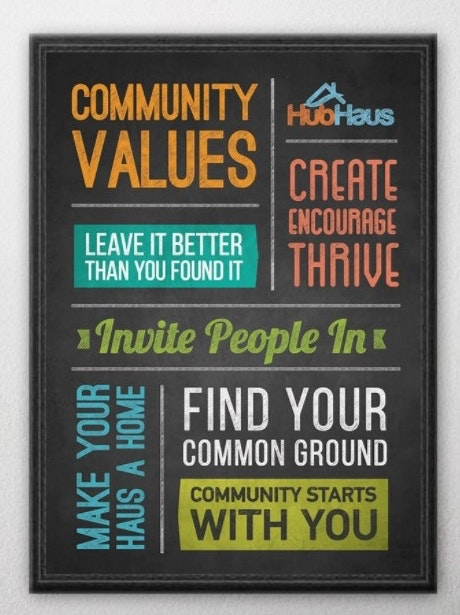 HubHaus values poster mockup