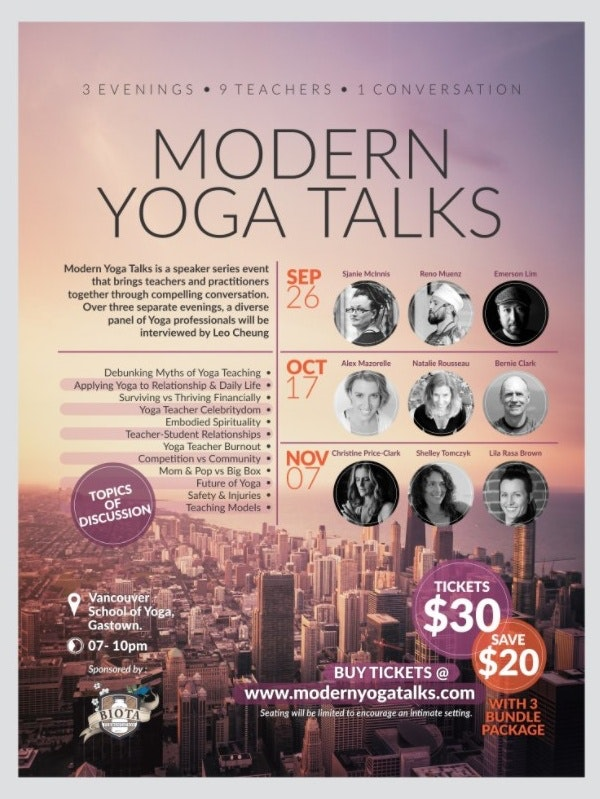 Yoga Talks poster mockup
