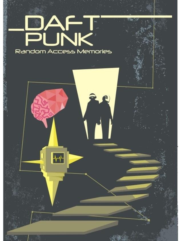 Daft punk poster mockup