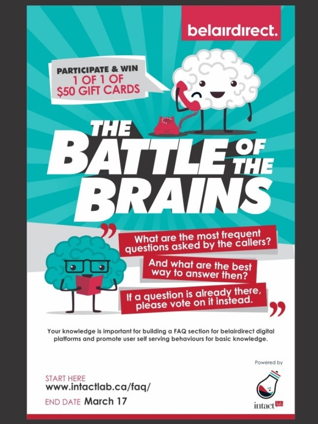 Battle of the Brains poster mockup