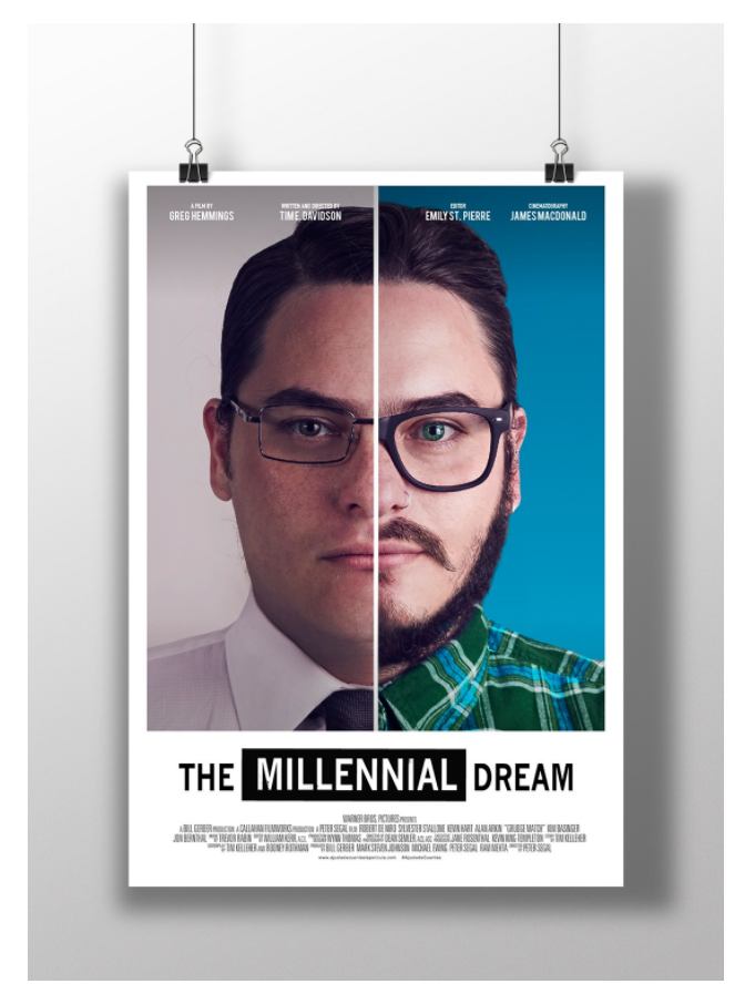 Capturing the Millennial Dream poster mockup
