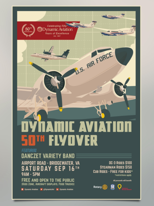 Dynamic Aviation poster mockup