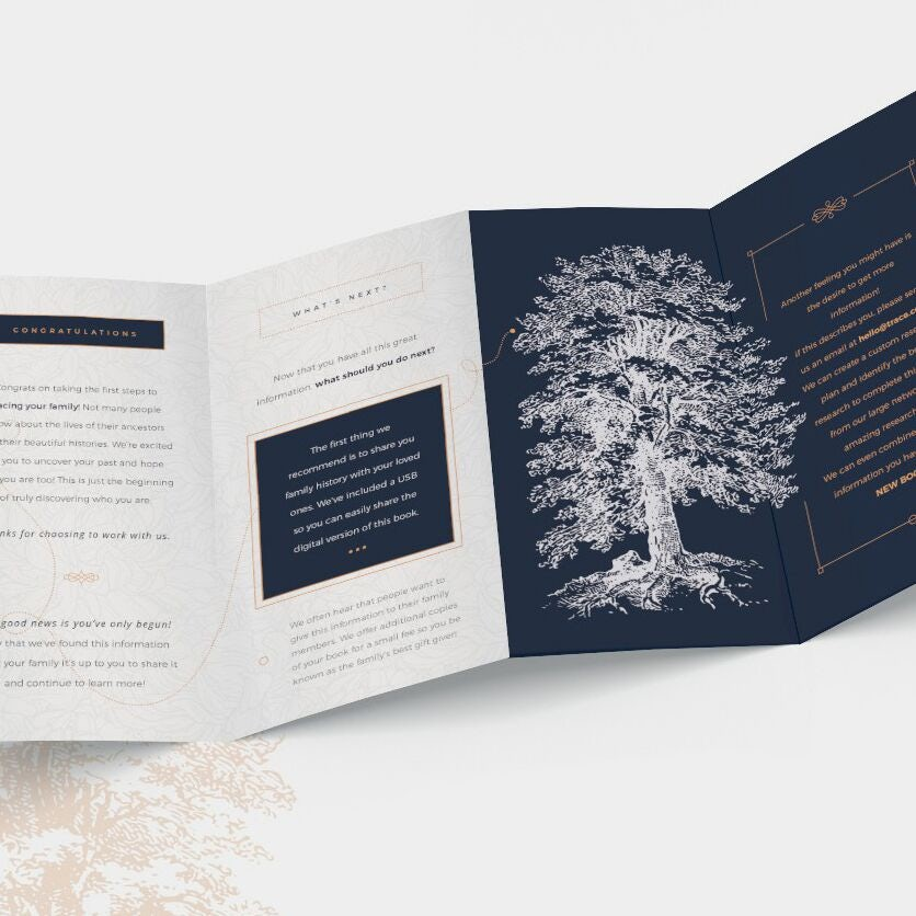 Brochure quadruple marketing intemporelle