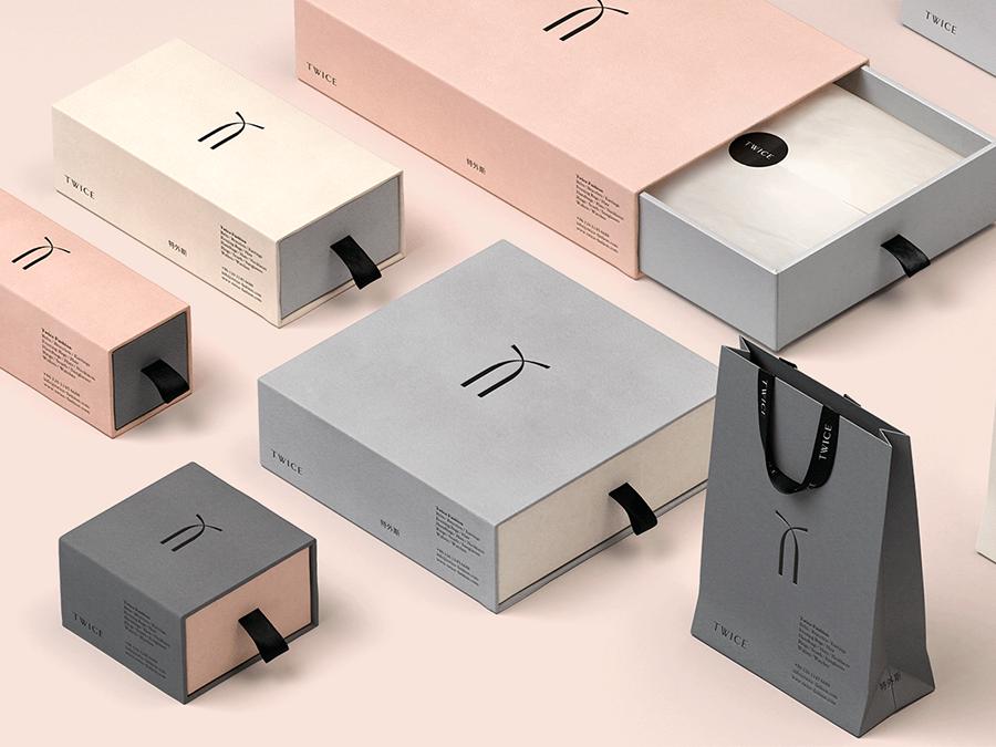 Deux fois la conception d'emballage de mode
