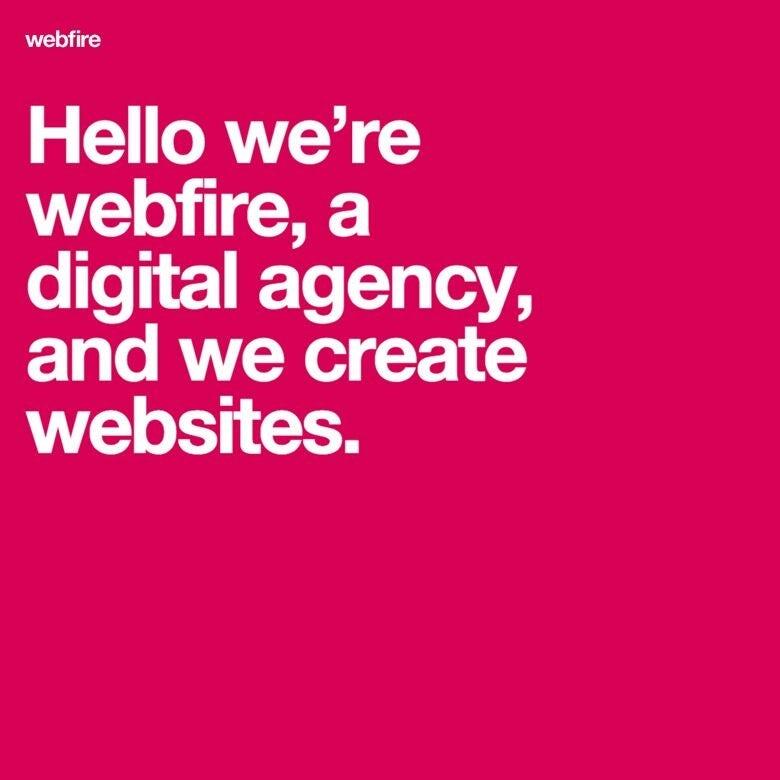 Conception de page d'accueil Webfire