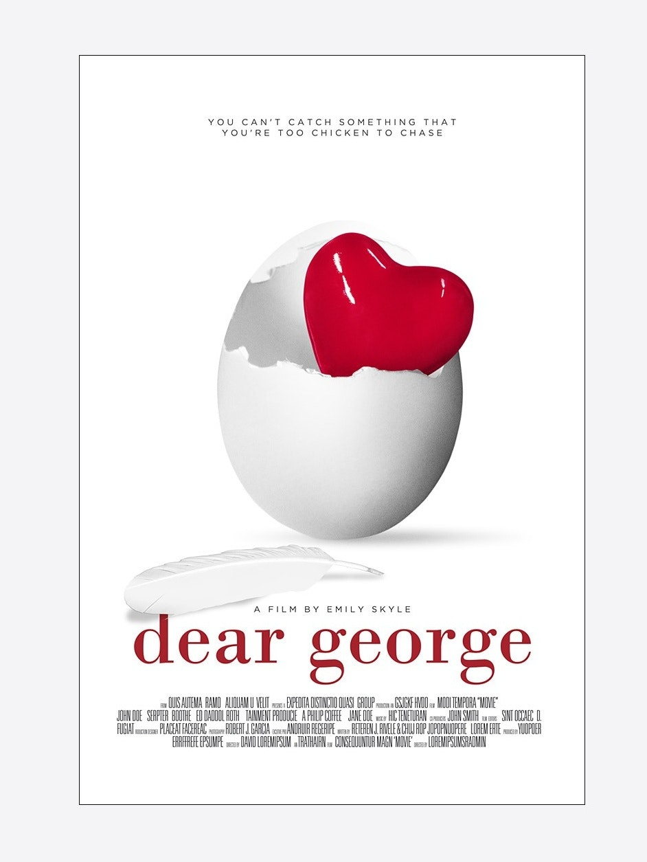 Dear George poster mockup