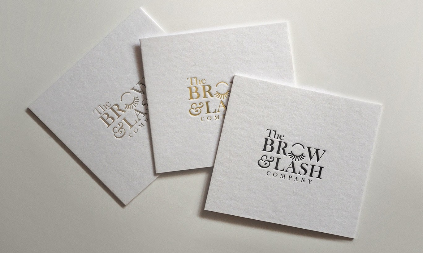 The Brow and Lash Company logo