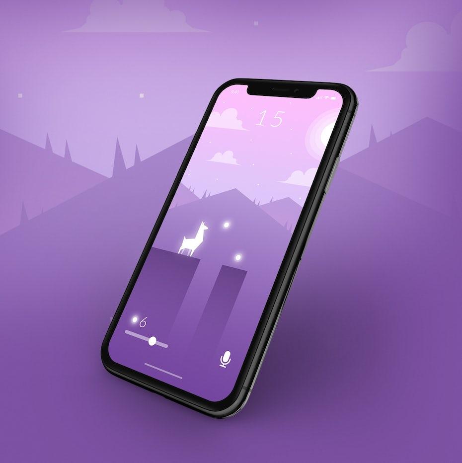 Concept de jeu mobile minimaliste