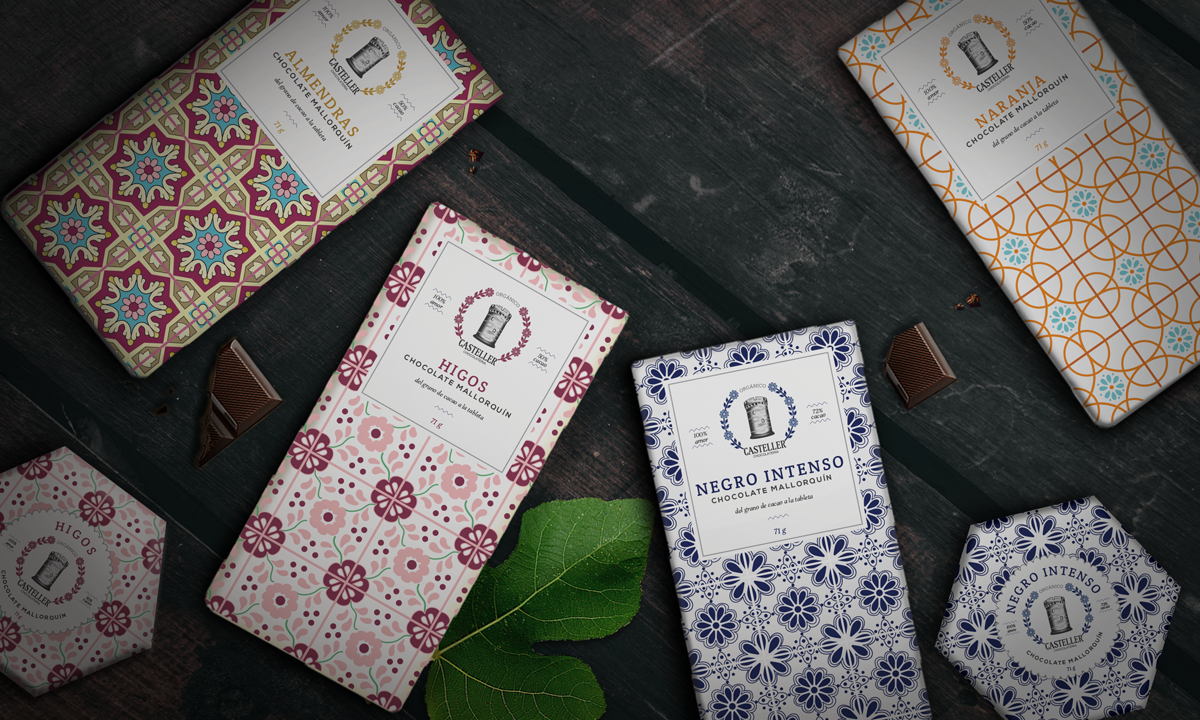Casteller Chocolateria package designs