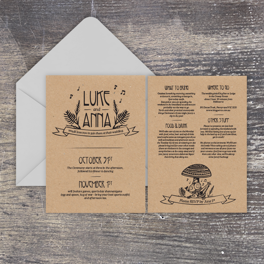 Festival-inspired invitation set