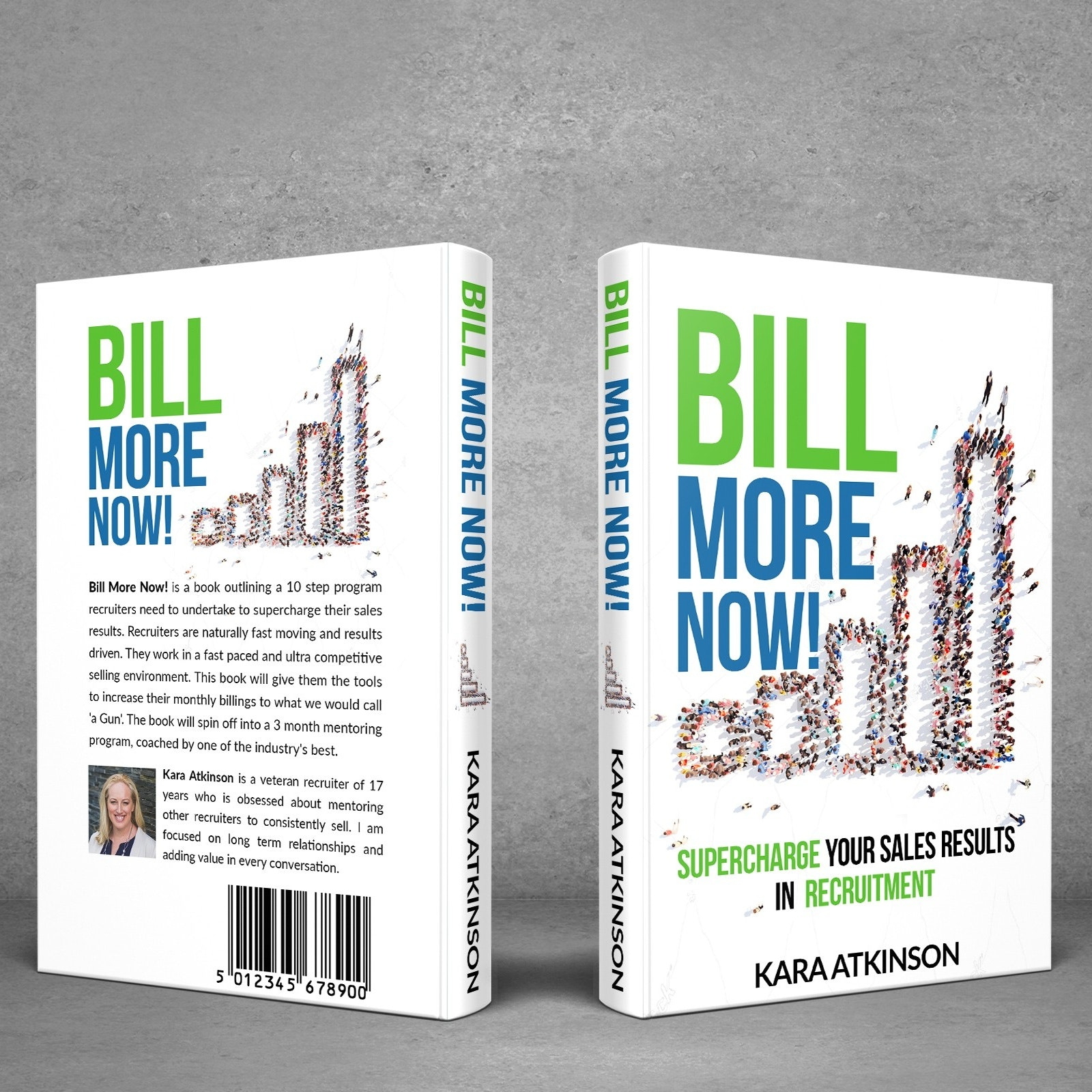 A corporate book cover design