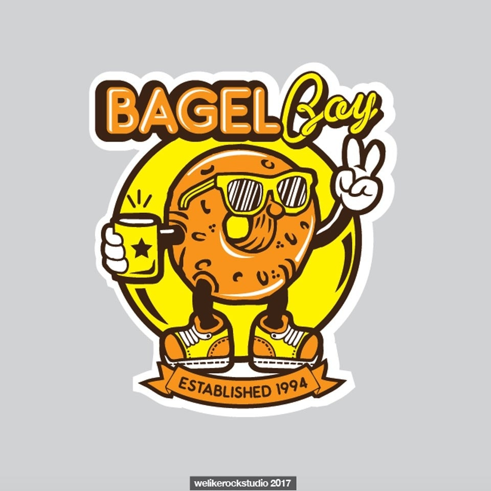 Bagel Boy sticker