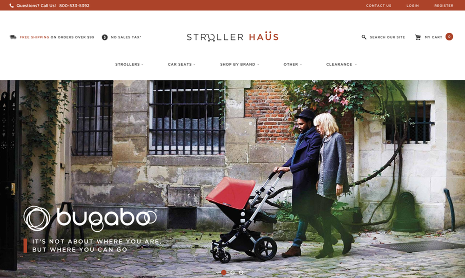 Bugaboo website design