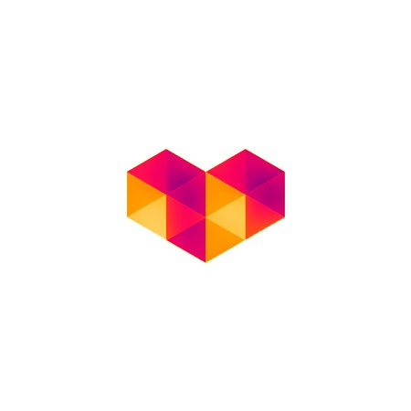 Digital love logo symbol