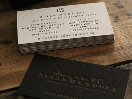 The best business card fonts to make you stand out 99designs elias mendoza business card colourmoves
