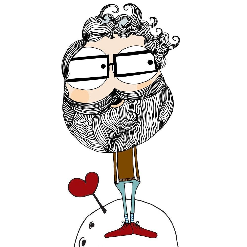 Hipster character mascot