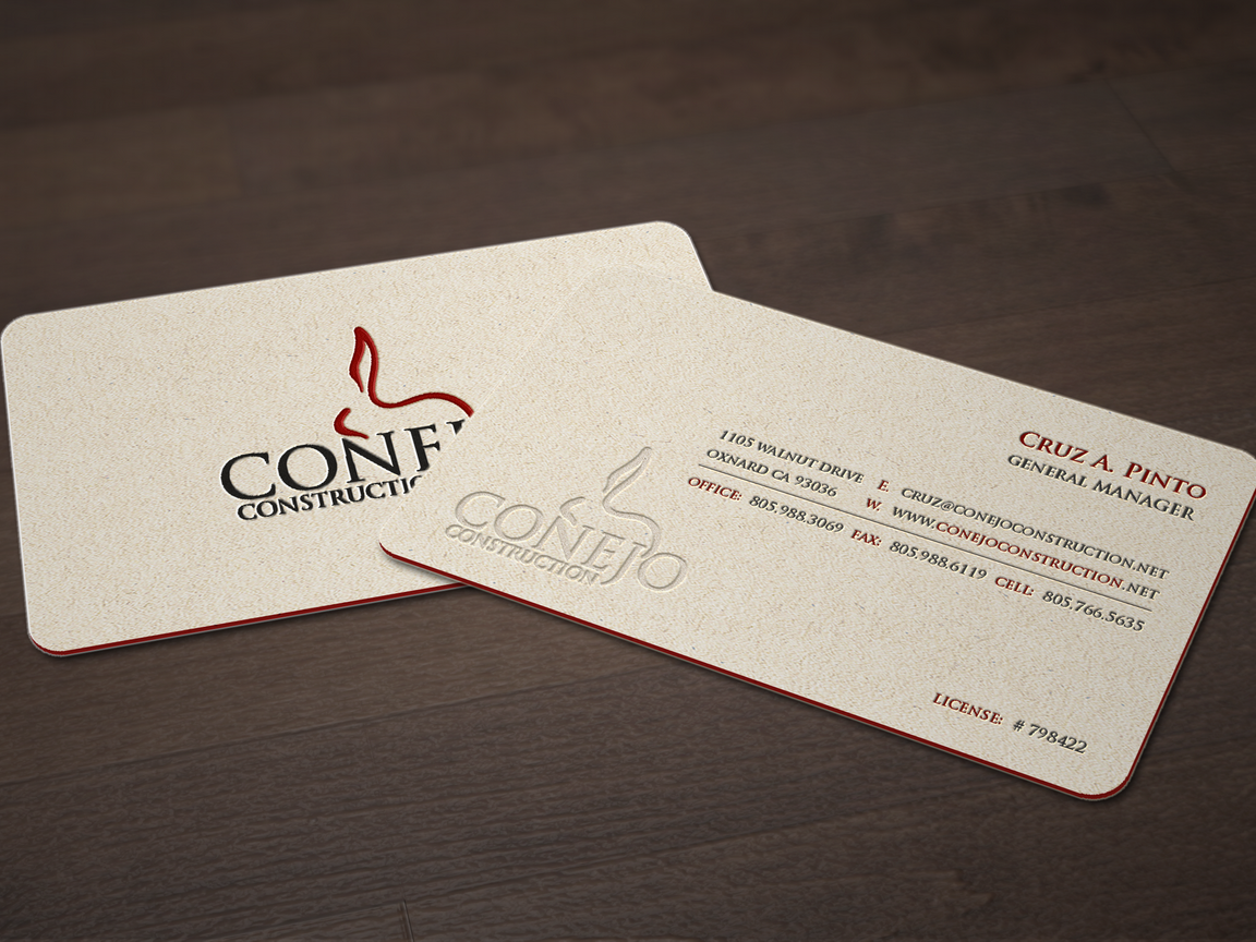 Conejo Construction business card design