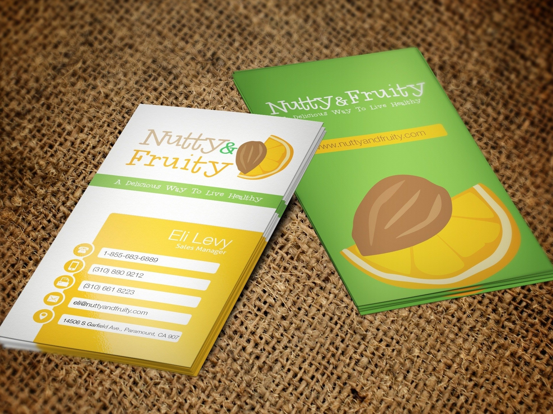 Nutty and Fruity business card