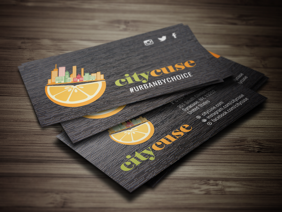 citycuse business card - Photo Business Cards