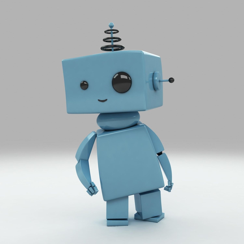 A 3D robot character