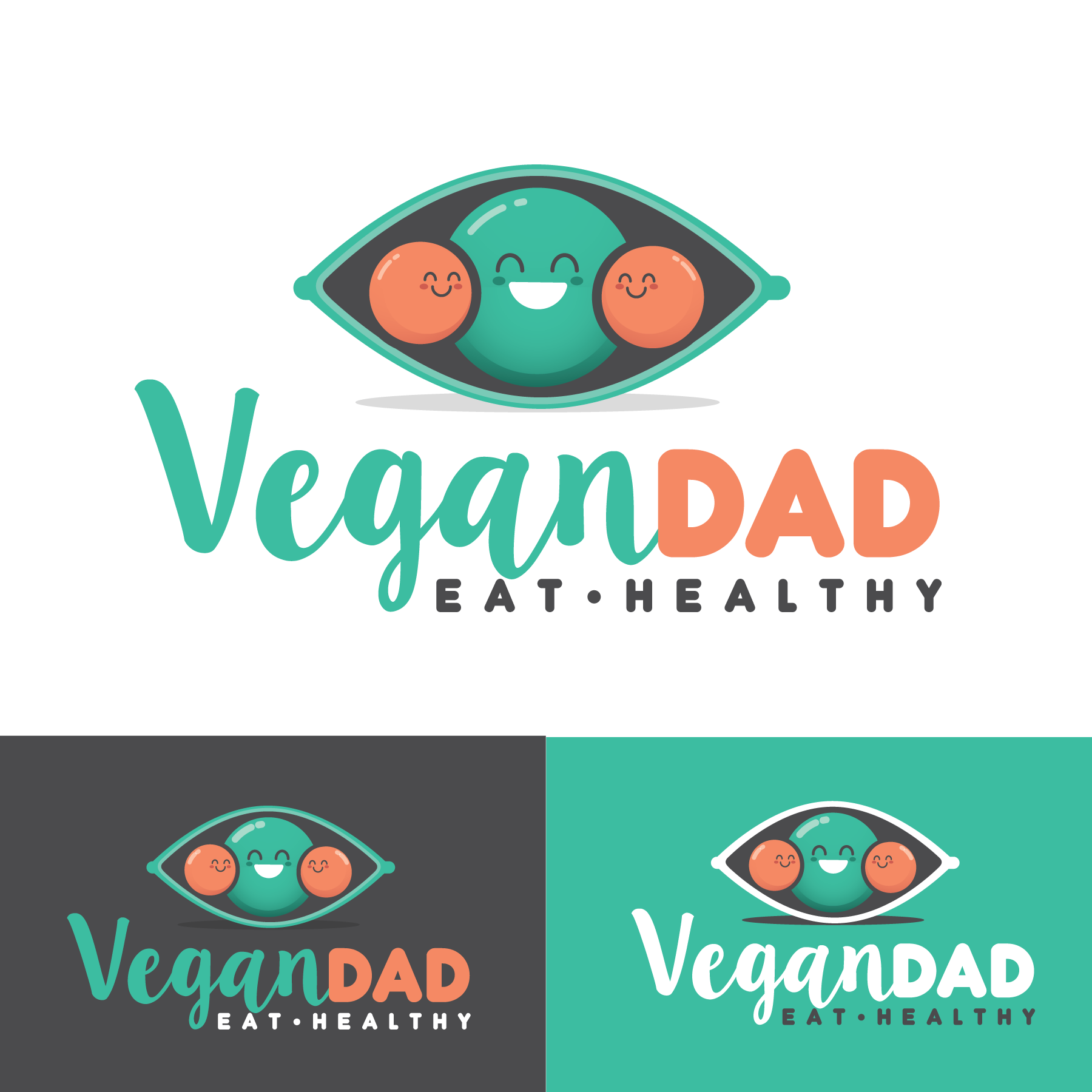 Abstract mascots for a health food blog