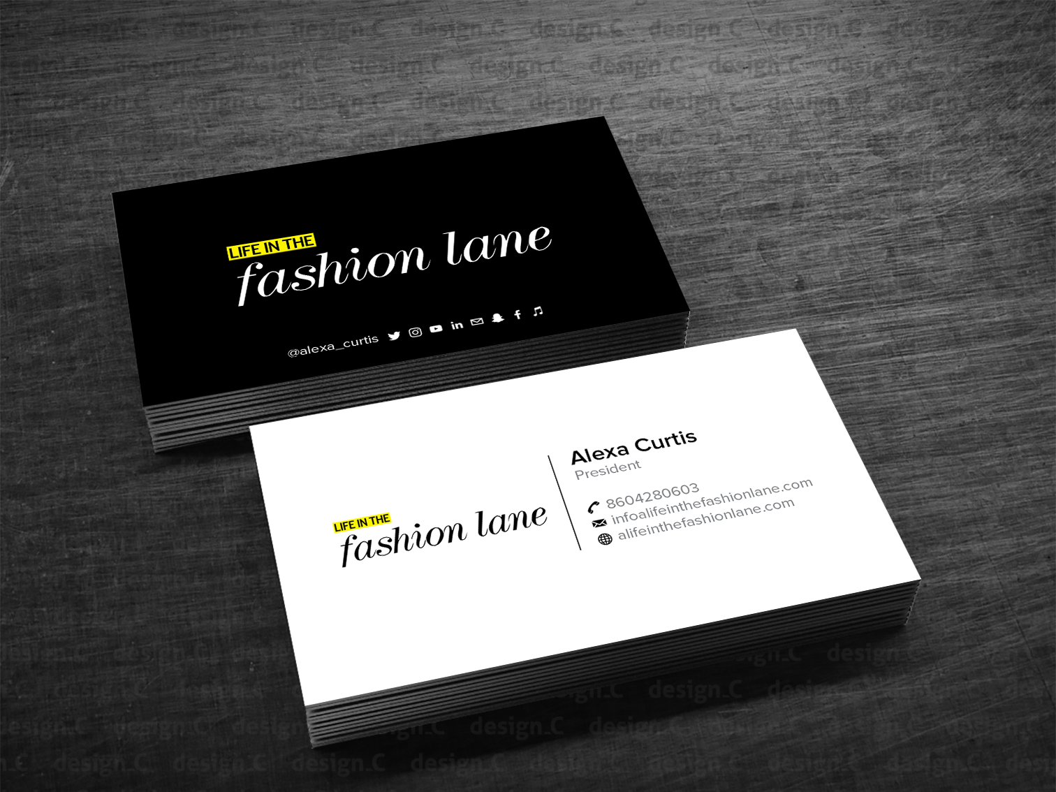 the best business card fonts to make you stand out 99designsa life in the fashion lane business card