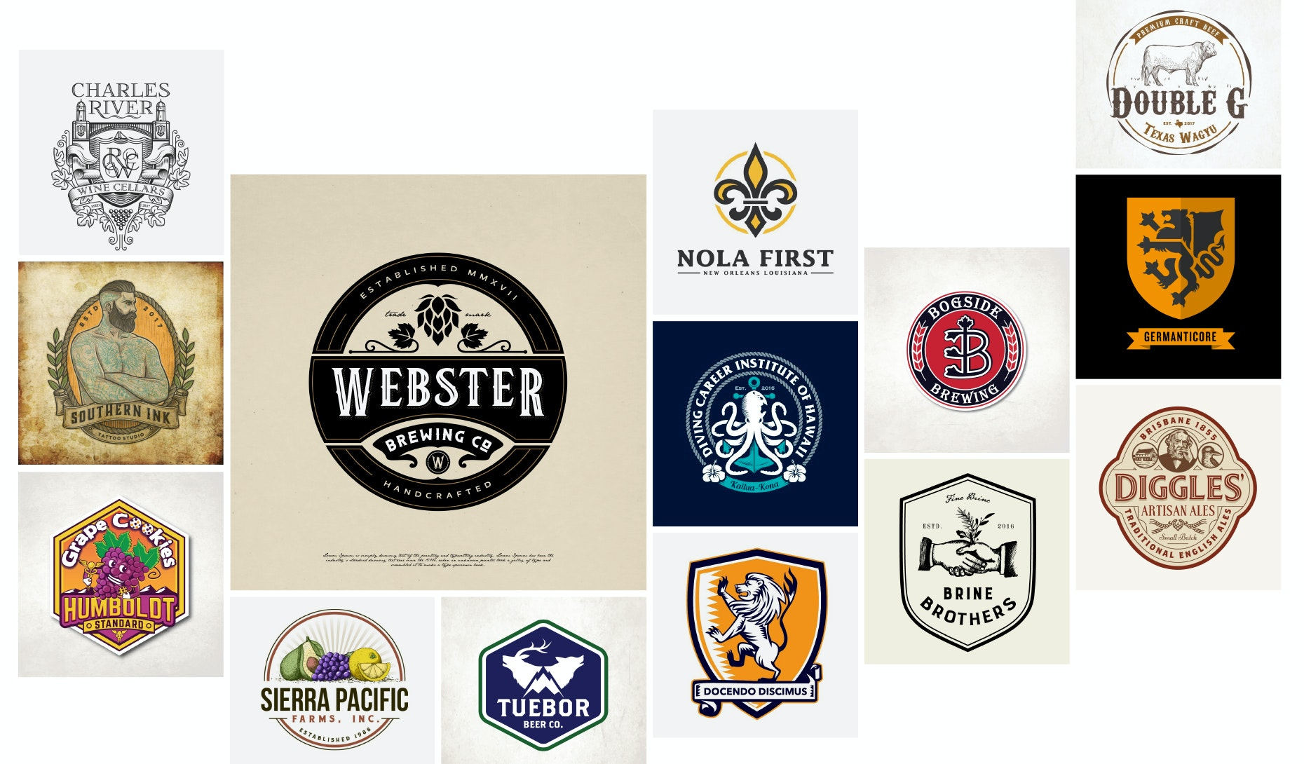 45 emblem logos that hit the mark