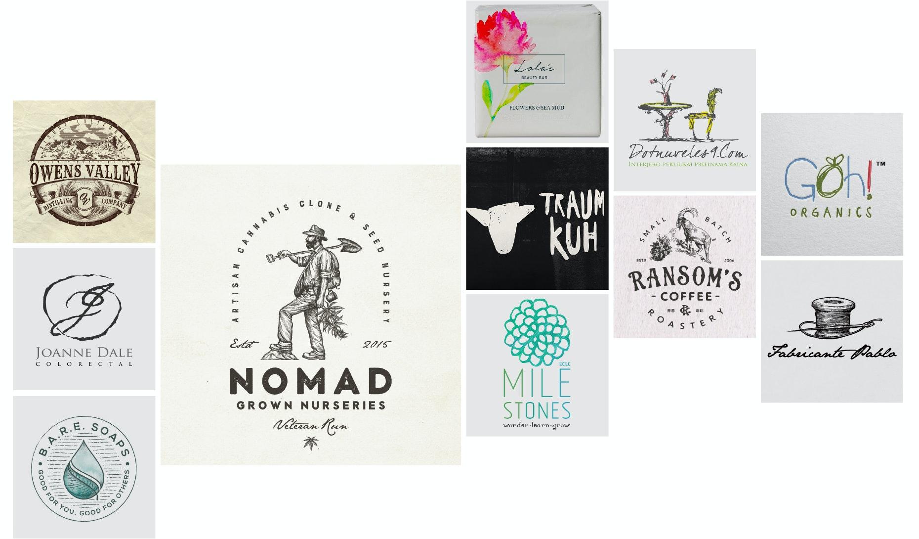 20 handgemachte und handgezeichnete Logos, die einfach einzigartig sind