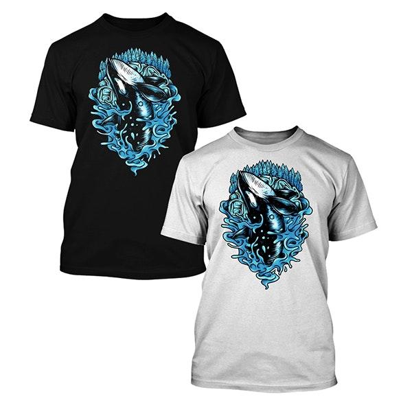 whale t-shirt design