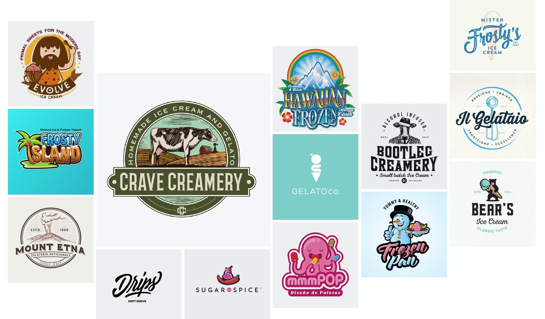 30 ice cream logos that will melt the competition