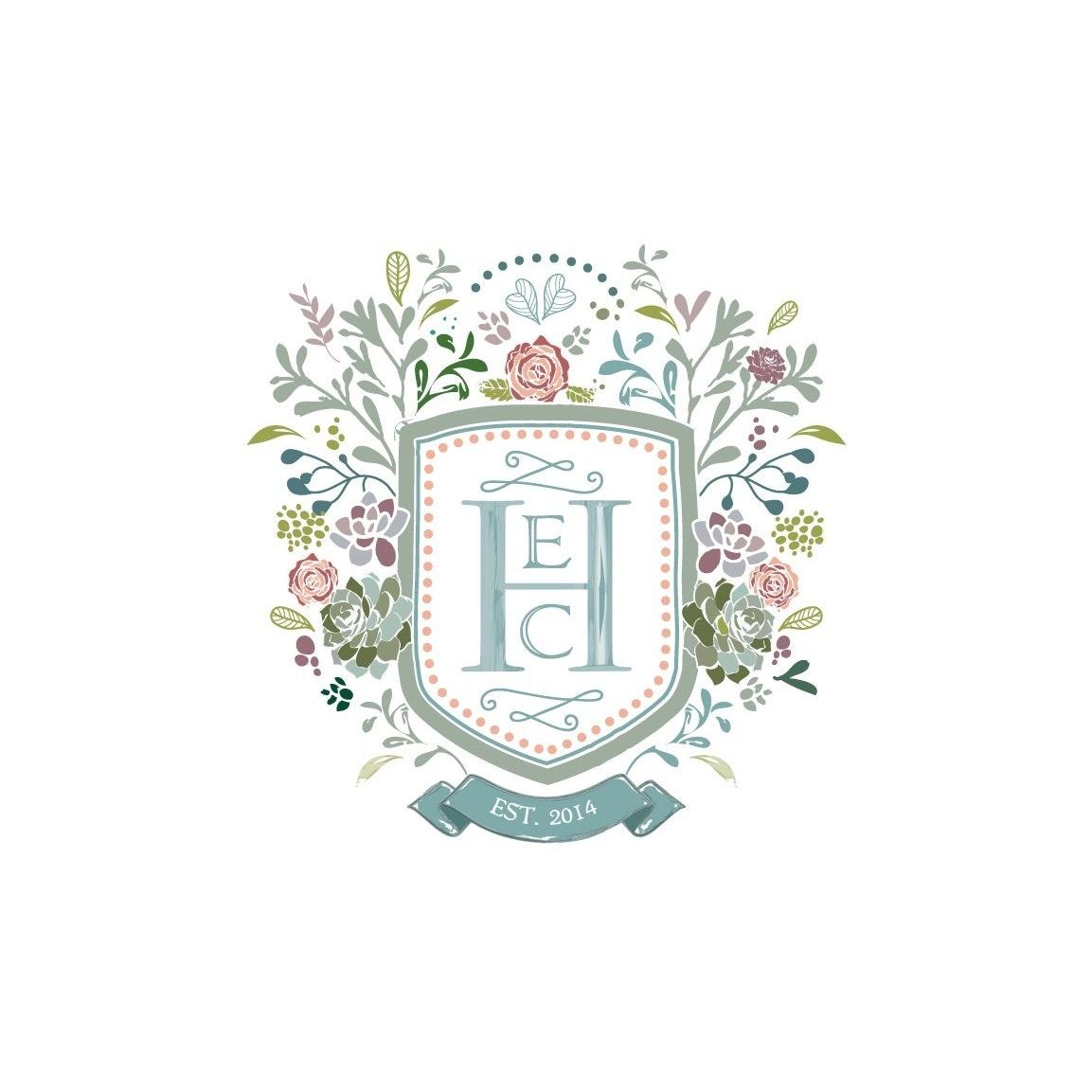Ornamental wedding logo