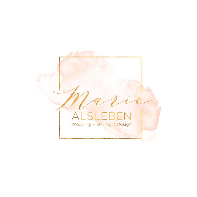 Calligraphic wedding logo