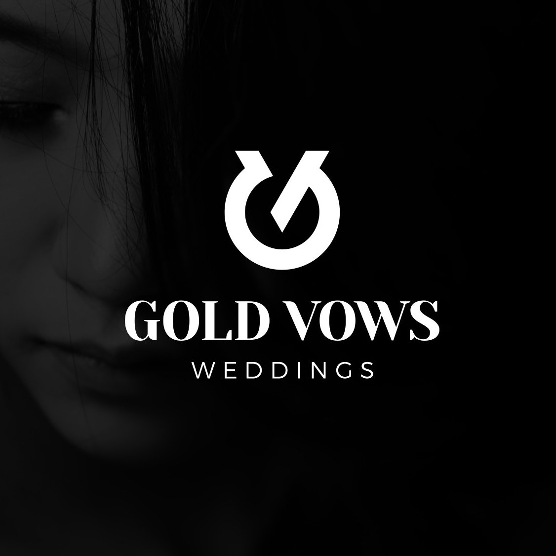 Modern wedding logo