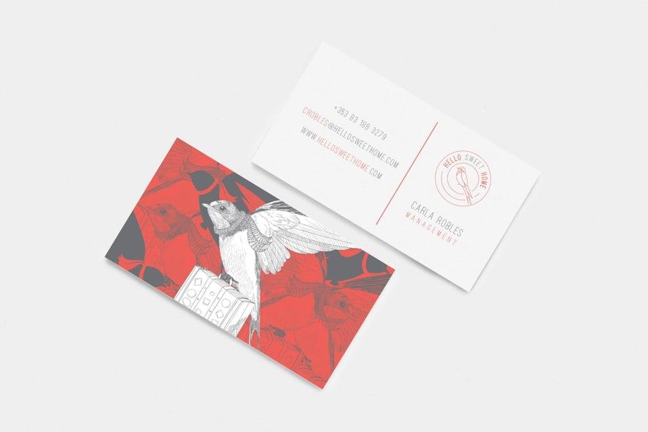 Cette Carte De Visite Dessine La Main Est Une Vritable Oeuvre Dart Quon Aura Envie Garder Design Ralis Par Mad Pepper