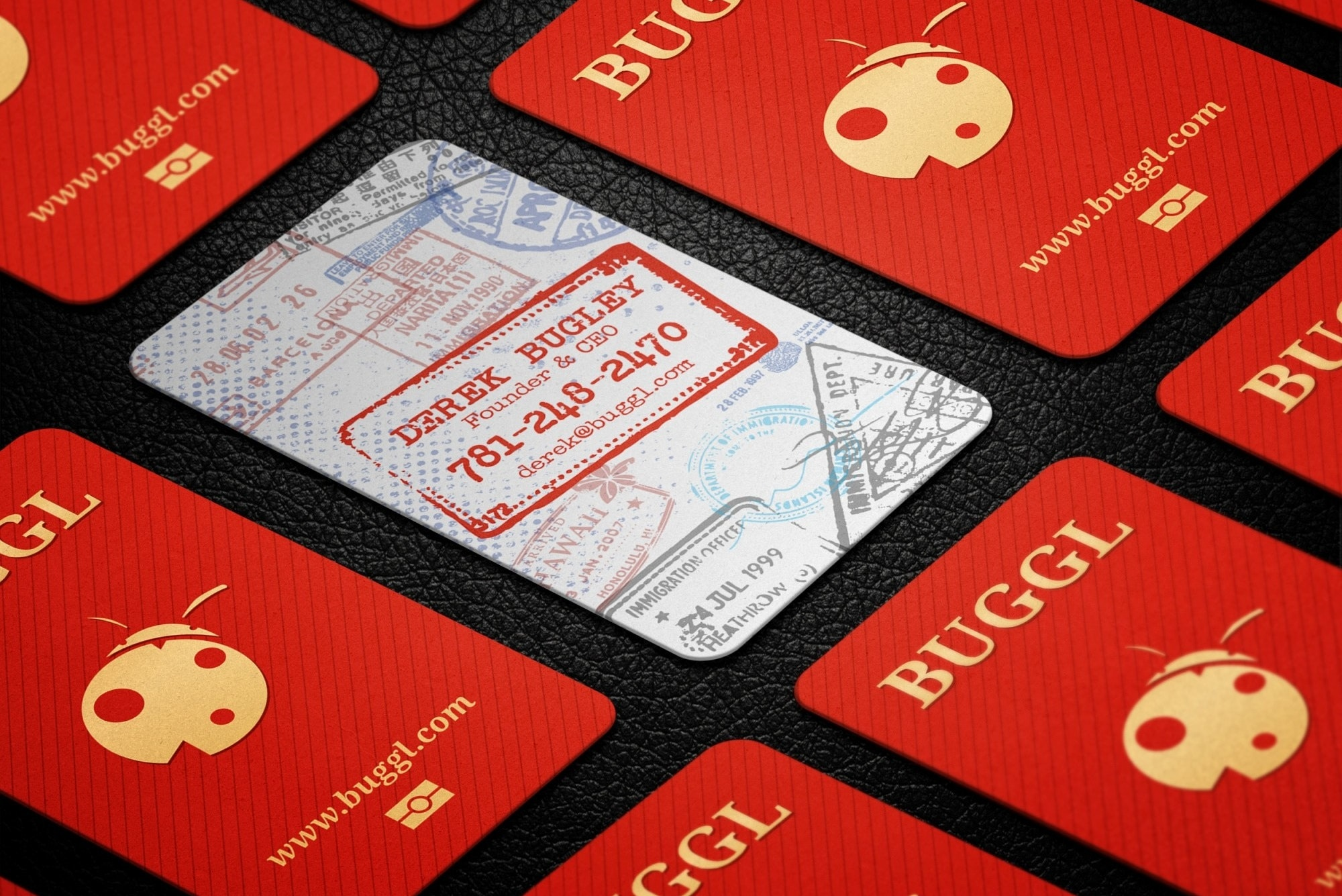 Passport business card