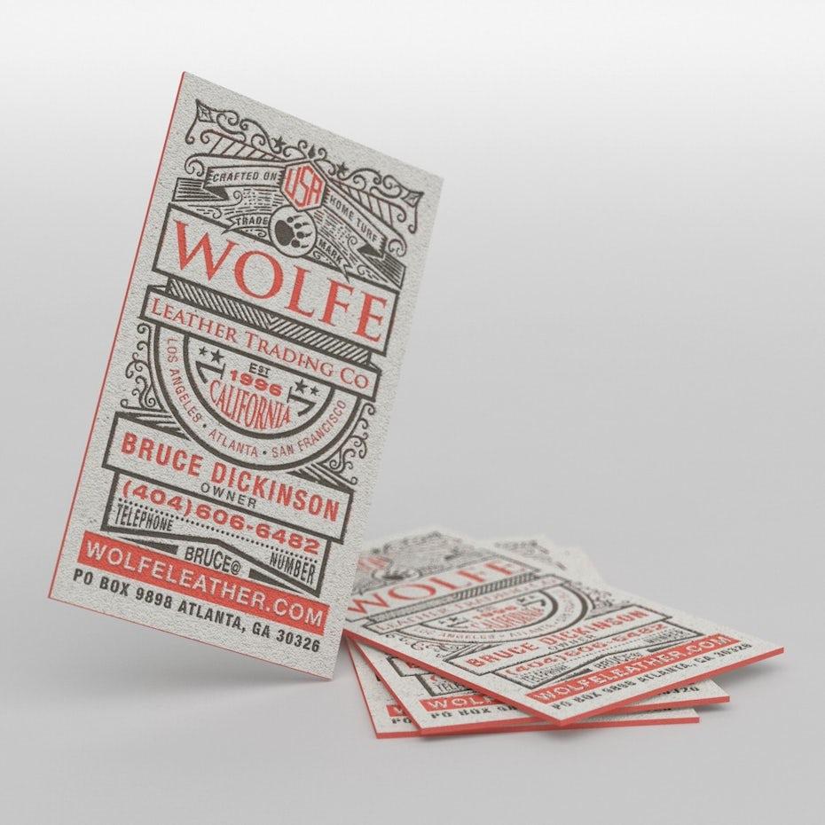 Deux Couleurs Sur Un Beau Papier Suffisent Amplement A Donner Ces Cartes De Visite Une Allure Choc Design Realise Par Cheeky Creative