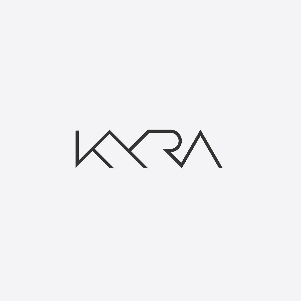 Thin, angular font