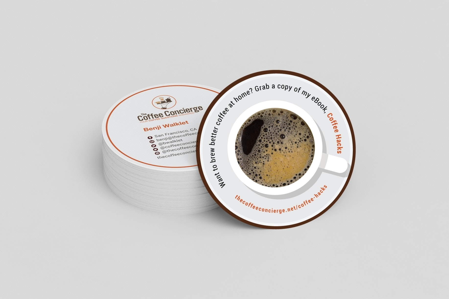 Coaster business cards
