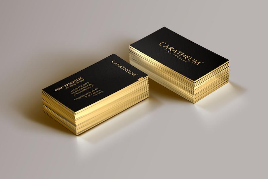 Texte Et Tranche En Or Pour Cette Carte De Visite Luxe Design Ralis Par HYPdesign