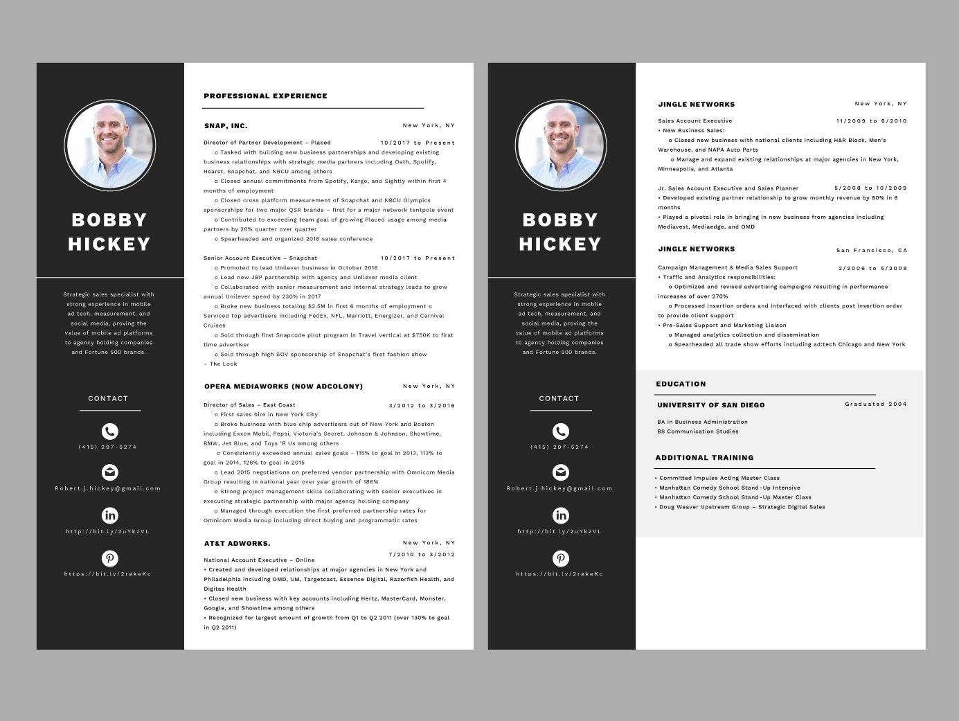 A resume design