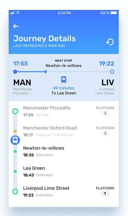 train app design