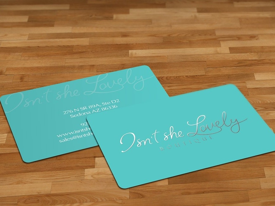 Beauty boutique business card design