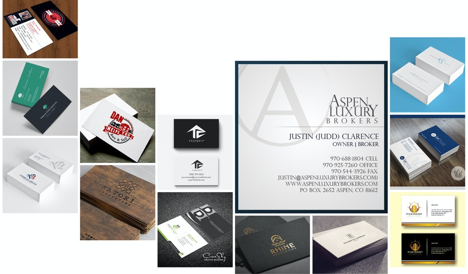 42 real estate business cards to help you close the deal - 99designs