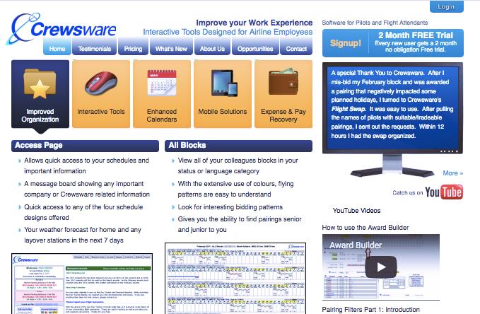 Crewsware Software, Inc. website